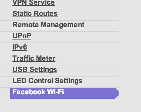 Enabling Facebook WiFi on NetGear NightHawk R7000