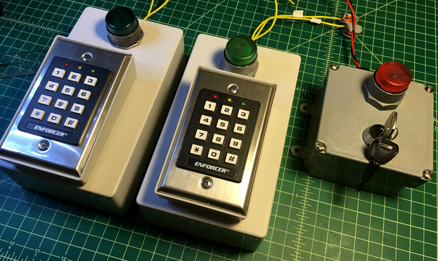 Portable Escape Room puzzles keypad and keyswitch